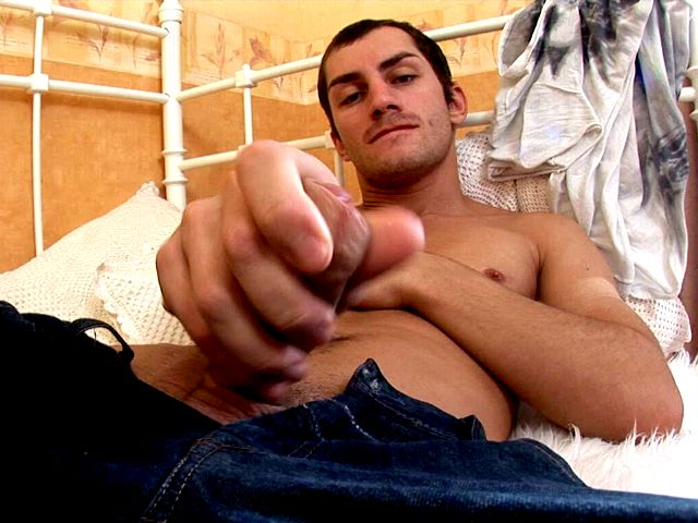 Astounding Brown-haired Faggot Tommy Demonstrating Off His Huge Knob Within The Bed Room