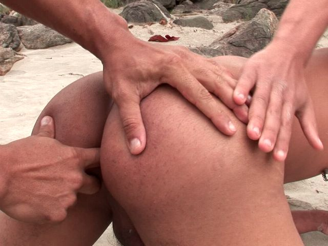 Softcore Bronzed Homosexuals Christian Torquato And Younger Pavanello Finger-tickling Their Super-sexy Assholes On An Island